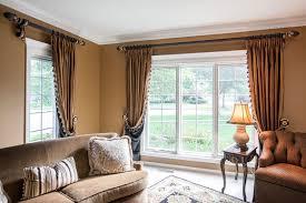 living room custom window treatments