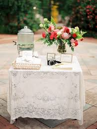 fall wedding guest book guest table wedding