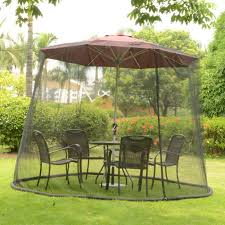 amazon com patio umbrella mosquito net 9ft umbrella black