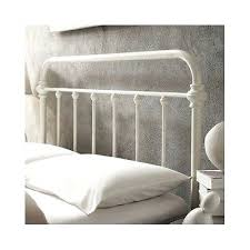 White Frame Bed White Metal Headboard Size Bed Vintage Antique Iron White