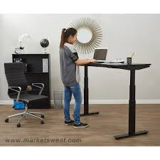 pneumatic adjustable height table desk with 36