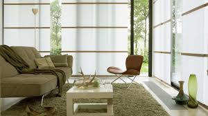 japanese style living room floral wallpaper beside glass window