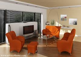Orange Interior Sofa Set Advice For Home
