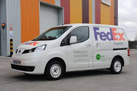 nissan nv200 nissan fedex to trial nissan nv200 electric vans in london