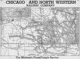 Chicago Trains Map by The Chicago And North Western Railway