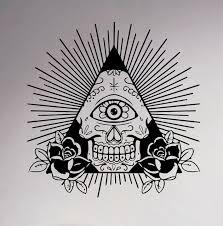 illuminati symbols illuminati symbol wall decal all seeing eye vinyl sticker decor