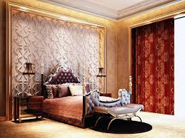 luxury bedroom design victorian style with red color curtain with luxury bedroom design victorian style with red color curtain with wallpaper wall interior plus gold color themes bedroom cool wallpaper for home interior