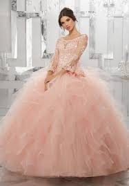 light pink quince dresses 3 4 bell sleeve quinceanera dresses beading lace sweet 16 dresses