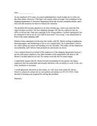 hostile work environment complaint letter png
