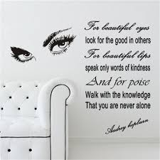 audrey hepburn quote wall decals reviews online shopping audrey removable decor wall sticker audrey hepburn eyes vinyl wall decal quotes art bedroom wallpaper home living room adesivo ny 340