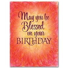 may you be blessed on your birthday birthday card