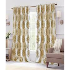 Brown Gold Curtains Buy Metallic Gold Curtains From Bed Bath Beyond