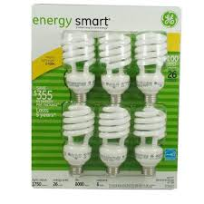 ge helical light bulbs ge 26w 120v 60hz 390ma compact fluorescent twist light bulb x 6 pack
