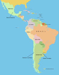 Map Of South America And Mexico by Students