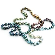 color pearl necklace images Long tahitian south sea rainbow pearl necklace in every natural jpg