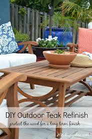 Outdoor Furniture Finish by Restore Outdoor Teak Furniture Tutorial H20bungalow