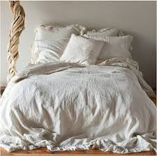 pre washed 100 linen ruffled duvet covert set the set includes