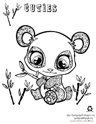 beautiful panda coloring page 83 in free coloring kids with panda