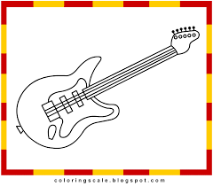 guitar coloring pages to print laura williams