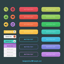 buttons designen kinds of web buttons in colors vector free