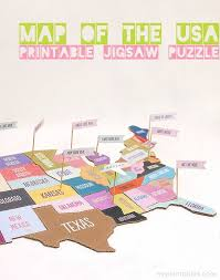 usa map jigsaw level five free diy united states jigsaw puzzle geography social studies