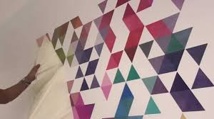 colored triangles wall decal how to apply youtube