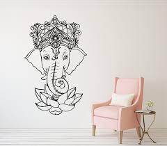 dsu art wall decal elephant vinyl stickers yoga ganesh tribal