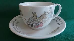 wedgwood rabbit tea set wedgwood rabbit tea cup and saucer set beatrix potter