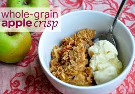 healthy thanksgiving dessert whole grain apple crisp with nuts