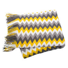 Sofa Blankets Throws Rio Grey Silver White Yellow Chevron Sofa Blankets Throws Rugs