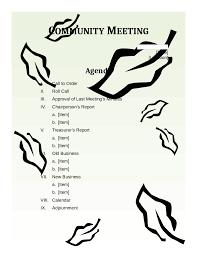 2017 meeting agenda template fillable printable pdf u0026 forms