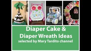 creative diaper cake and diaper wreath ideas baby shower gift