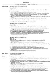 sle resume for business analysts duties of executor of trust product operations resume sles velvet jobs