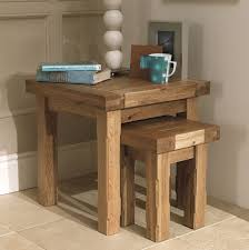modern nest of tables uk windermere rustic oak extending monastery dining table oak