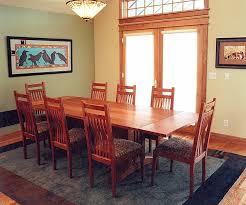 Craftsman Dining Table by Craftsman Dining Set In Cherry U003e Montana Fine Furniture U003e Handmade