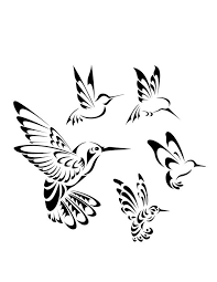 collection of 25 small tribal hummingbird for