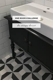 Antique Black Bathroom Vanity by Diy U2014 How To Turn An Antique Dresser Into A Bathroom Vanity U2014 One