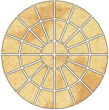 Patio Supplies by Abbey Original Ancestry Circle Paving Pack From B U0026 Q 4 5 2m