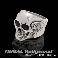 baby king rings images Archetype wing skull ring mens sterling silver king baby ring jpg