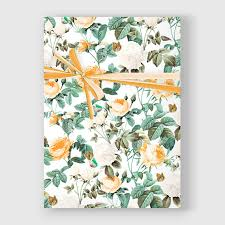 botanical wrapping paper botanical print botanical wrapping paper roses gift wrap