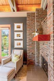 image of how to paint a brick fireplace accent wall smlf red