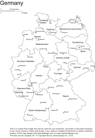Germany Map Outline by Printable Coloring Pages 7 Continents