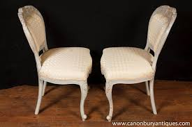 French Provincial Dining Room Chairs Set 8 French Provincial Painted Dining Chairs Rustic Furniture Ebay