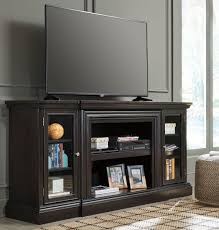 Carlyle Large Bookcase Carlyle Almost Black Extra Large Tv Stand From Ashley Coleman