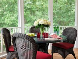 sunroom dining room relaxing eclectic sunroom shelley rodner hgtv