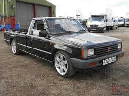 mitsubishi mini truck l200 pick up 1988 u0027f u0027reg lowered 18