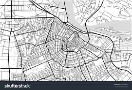 Map Of Amsterdam Vector Map City Amsterdam Netherlands Stock Vector 707690203