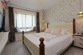 Wallpaper And Curtain Sets Bedroom Terrific Country Style Bedroom Bay Window Bench
