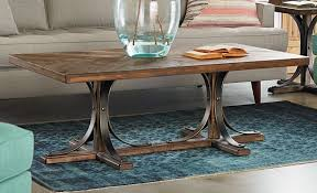 Trestle Coffee Table Iron Trestle Coffee Table Living Room