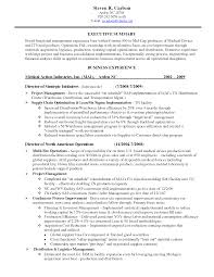 Logistics Resume Objective Examples by Resume Medical Device Resume Examples